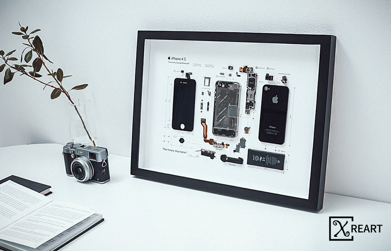 ip4s-3_cr Xreart – Zerlegte Elektronik-Produkte in gerahmter Form zur Dekoration